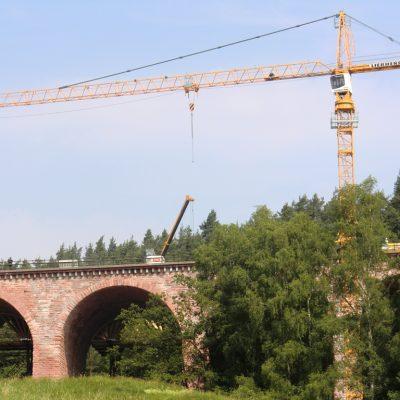 Liebherr 140EC-H Bad Hersfeld Asbachtalbrücke Wedekind Kassel
